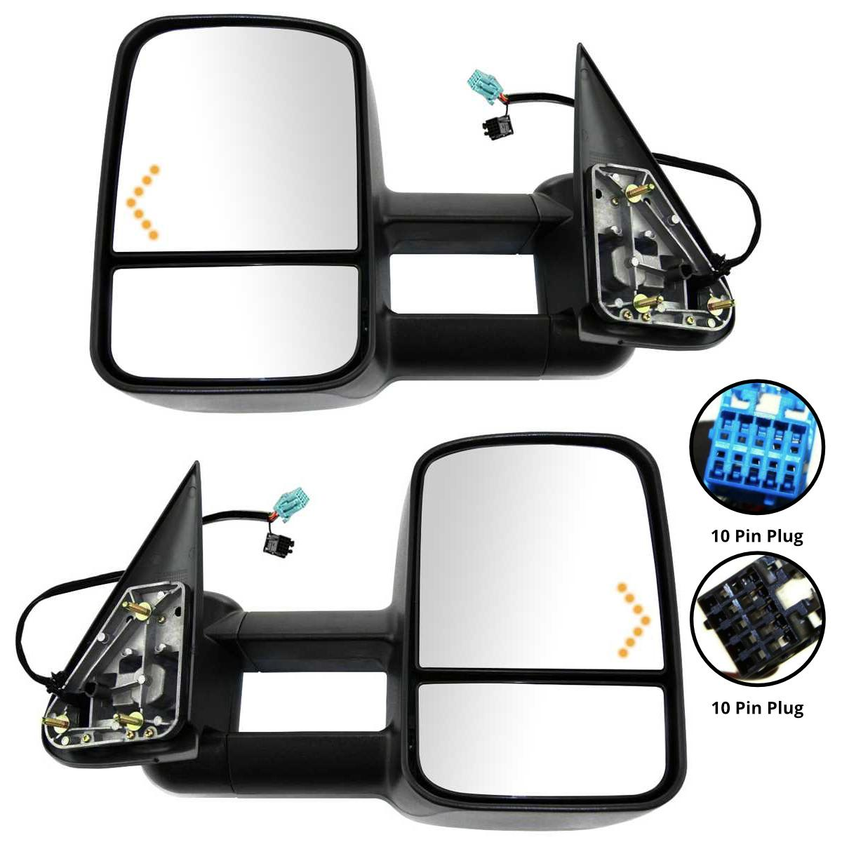 Power-Heated-LED-Signals-Towing-Mirrors-For-03-07-Chevy-Silverado-1500-2500-3500