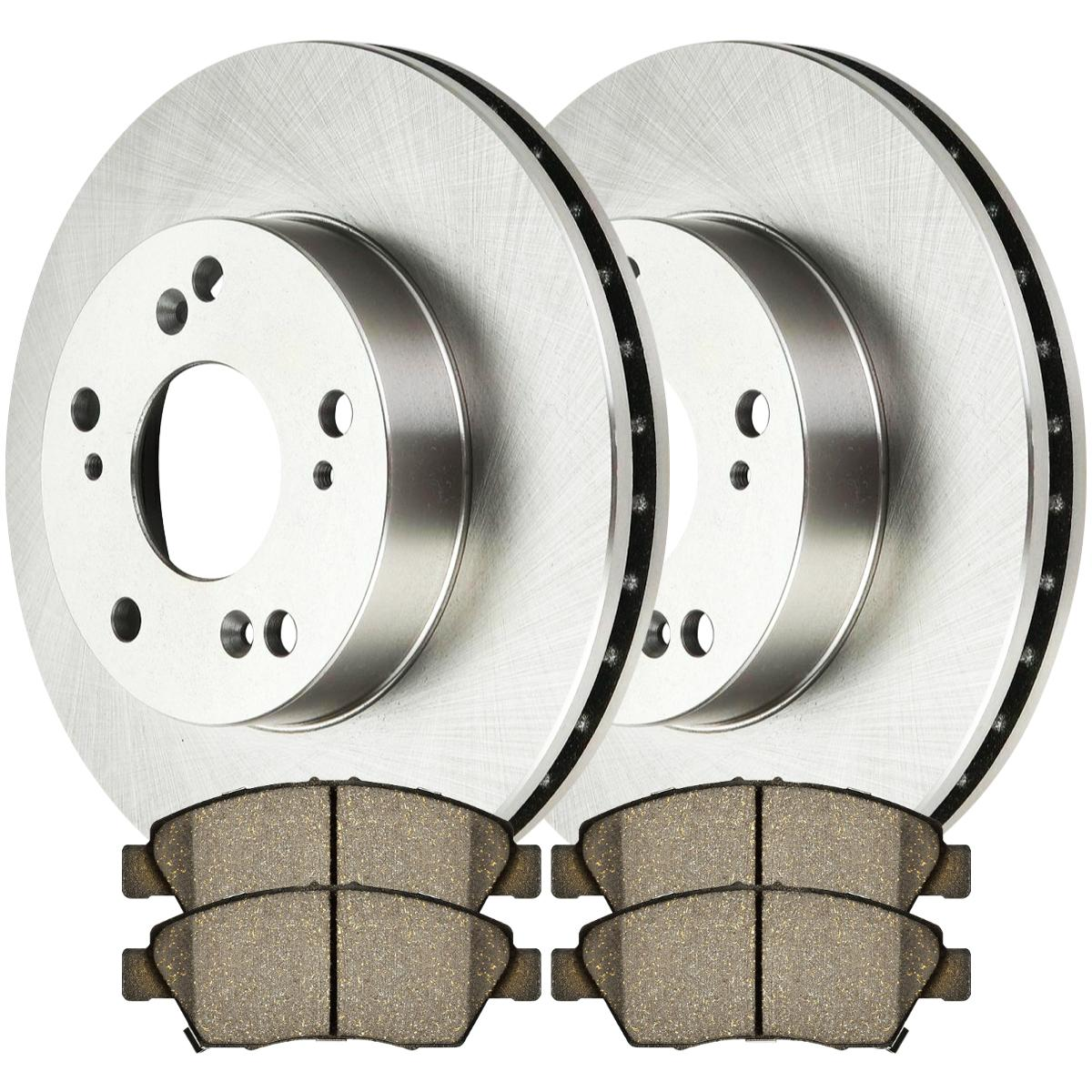 Front Rotors And Ceramic Pads For 2002-2005 2006 Acura RSX
