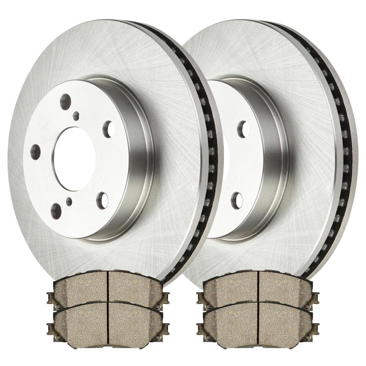 Brake Rotors 2 Front Ceramic Brake Pad For 08-2011 2012 2013 2014 Scion xB 4